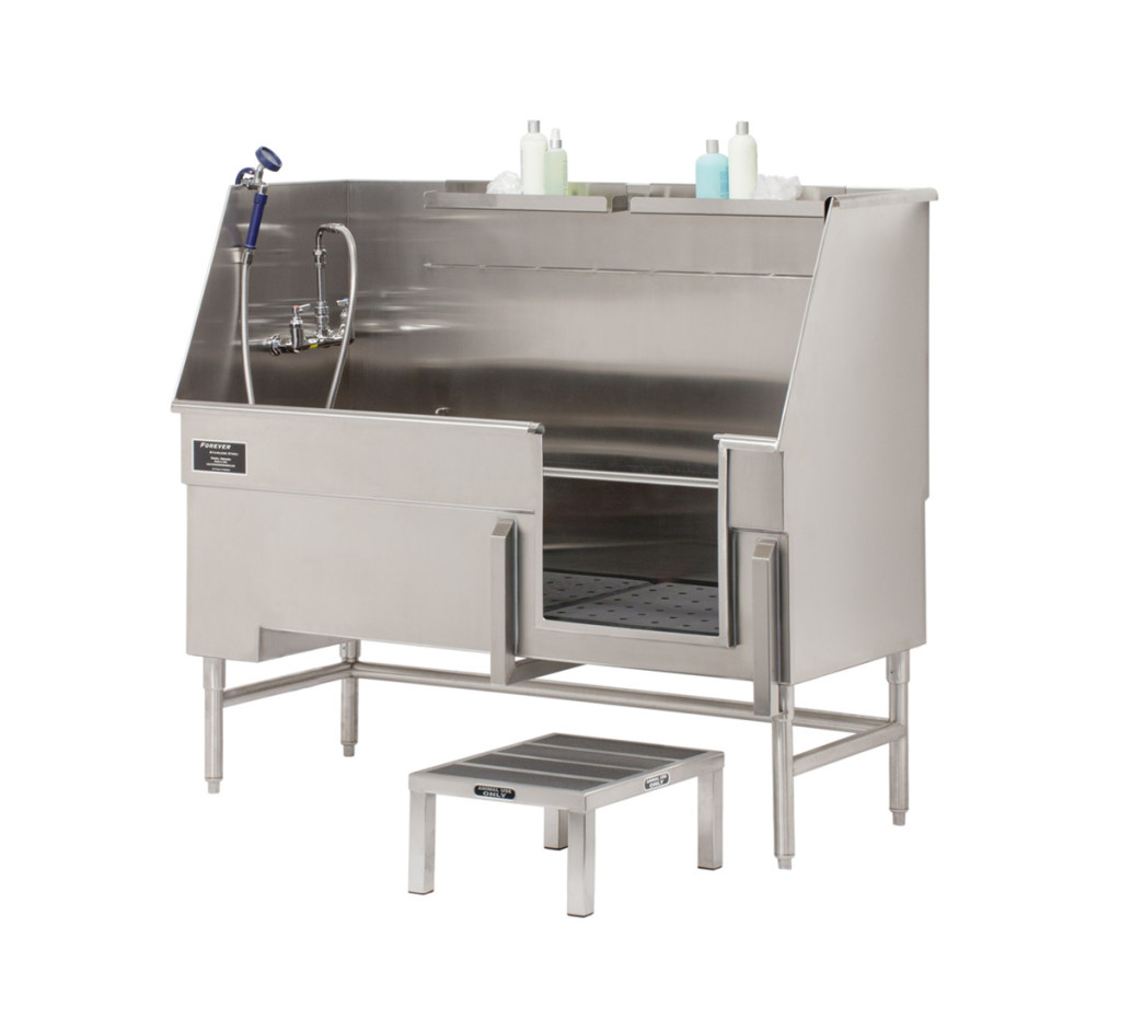 Forever Stainless Steel | » Step-in Tub with Hair Catching System